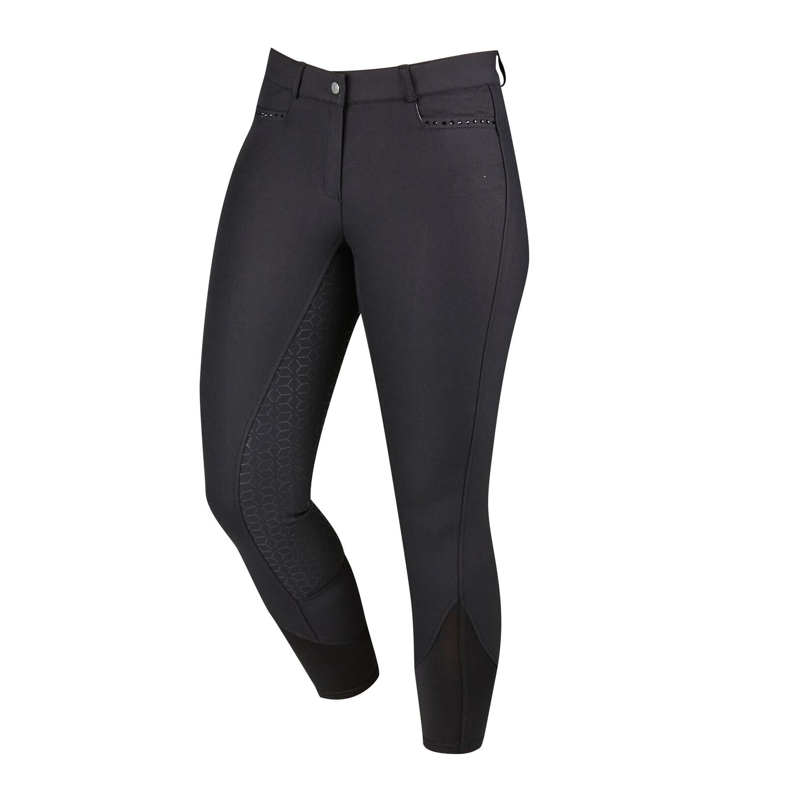 Dublin Citron Gel Full Seat Breeches Mid-weight technical fabric. PU silicon ful