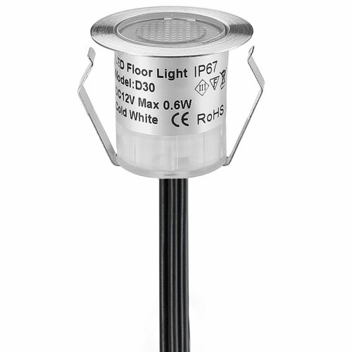 1-50Pcs Smart WIFI Controlling RGB 30mm LED Pool Step Soffit Deck Lights Garden