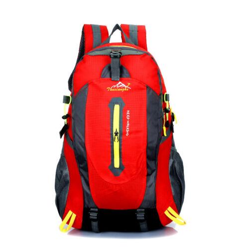 35L-80L Outdoor Backpack Hiking Camping Rucksack Waterproof Bag /& Rain Cover