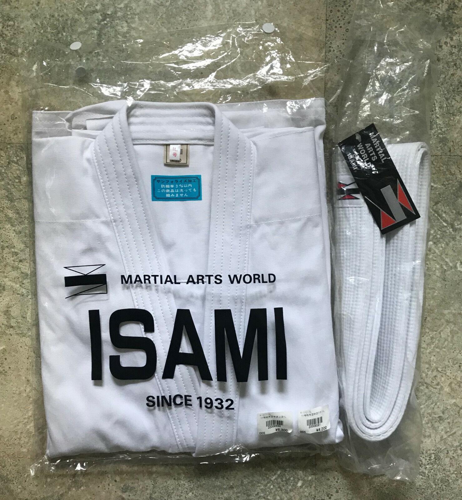 NWT NYA Isami Martial Arts World Karate Gi Uniform K -110 Storlek 1L
