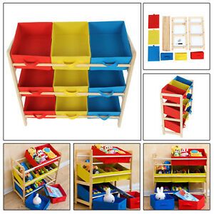 childrens kids 3 tier toy bedroom storage shelf unit 9 canvas rh ebay co uk bedroom storage shelf unit bedroom storage shelf unit