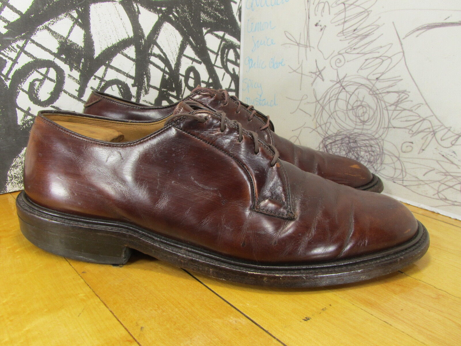 Johnston & Murphy in Brown Leather Oxfords Men's 10C/A Made in Murphy USA Patina 16d204