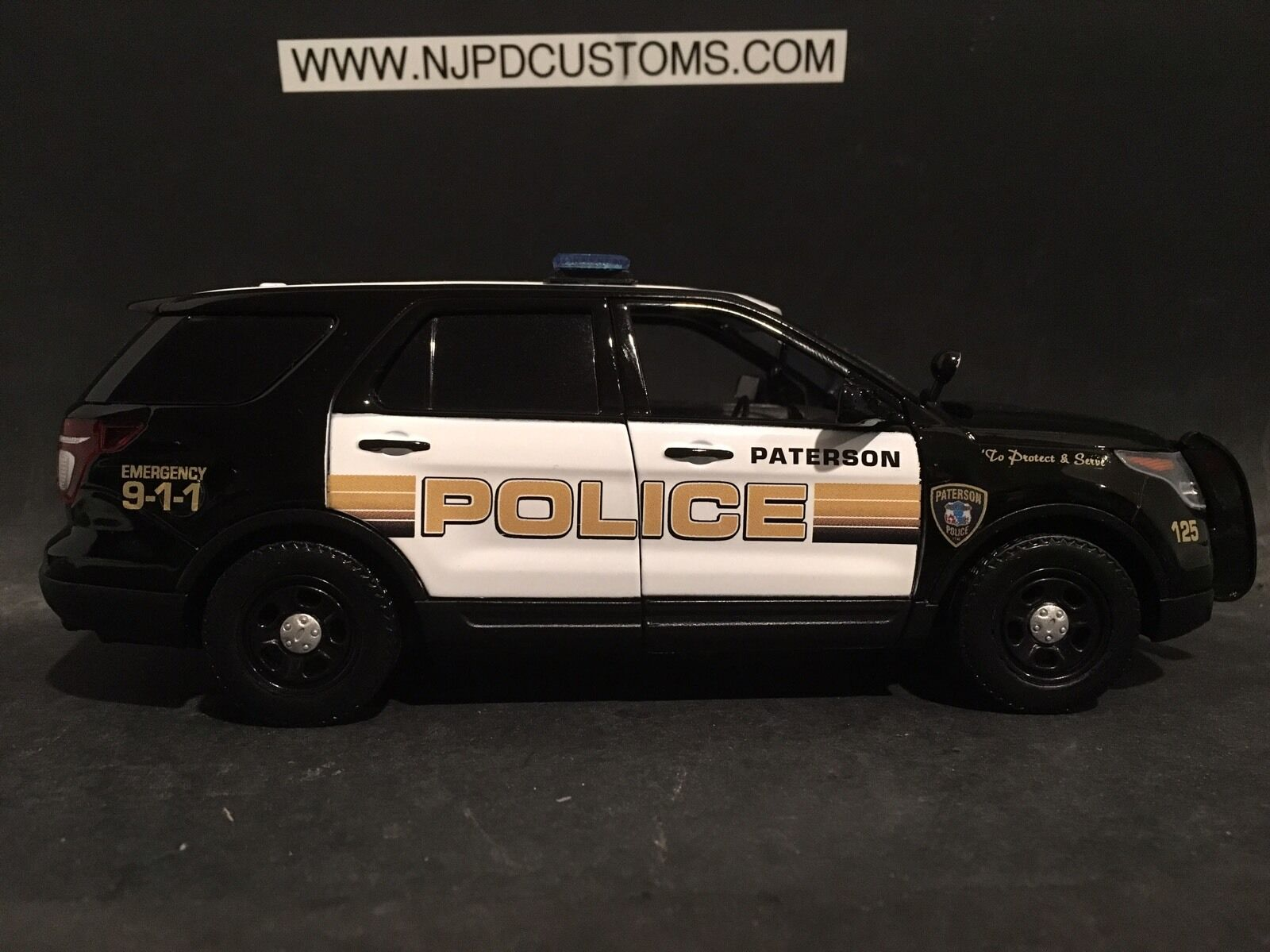 Paterson Police NJ 1 24 Scale Ford Explorer SUV Replica Police Car