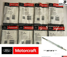 ZD-11 / ZD-11-B2 Set of 8 OEM Genuine Motorcraft Glow Plugs F4TZ-12A342-BA