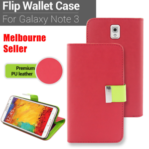 Red-Premium-Credit-Wallet-Leather-Case-Cover-For-Samsung-Galaxy-Note-3