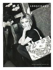 Publicité 2008 LONGCHAMP sac à main collection mode Kate Moss & Gaspard Ulliel