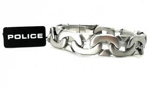 POLICE-Herren-Band-Armband-Panzer-Kette-MACHINE-Edelstahl-PJ23883BSS-01-L-gt-gt-NEU