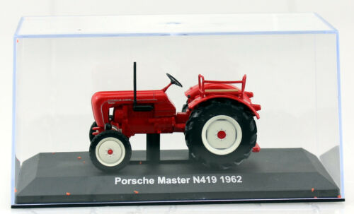 Porsche Master N419 rot 1962 Traktor 1:43 Hachette//UH Modellauto
