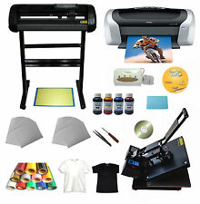 24'Cutting Plotter Heat press Sublimation Heating transfer Epson Printer CISS