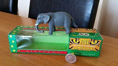 Aggressivo Vintage In Plastica Endangered Elefante Nella Scatola Originale Pg Tips Articolo Promozionale-mostra Il Titolo Originale Assicurare Anni Di Servizio Senza Problemi