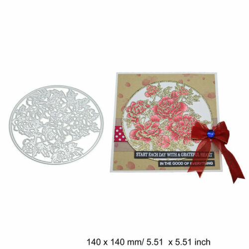 Flower Cover Frame Cutting Dies Metal Stencil DIY Scrapbooking Album Paper Card