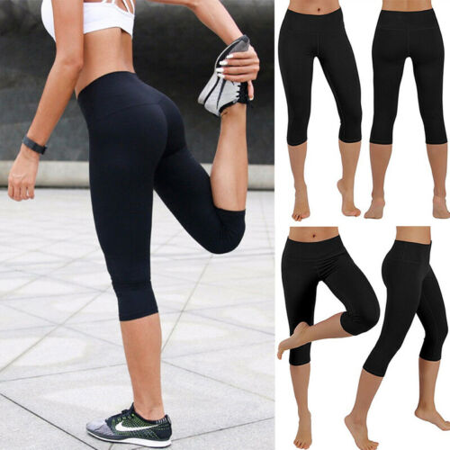 HOT Women Sports Mesh YOGA Pants Workout Gym Fitness Leggings Jumpsuit Athletic