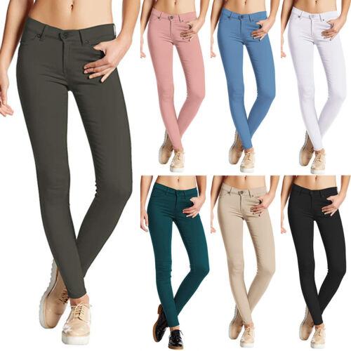 Women Ladies Jeans Jeggings Trousers Stretchy Skinny Leggings Long Pants UK 8-18