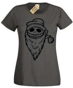 Jack-Santa-T-Shirt-Womens-skellington-nightmare-ladies-christmas