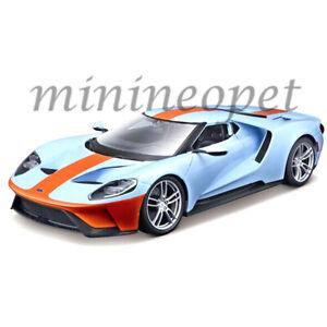MAISTO-31384-2017-17-FORD-GT-1-18-DIECAST-MODEL-CAR-LIGHT-BLUE