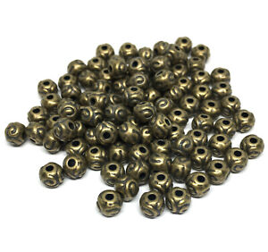antiqued-bronze-plated-Tibetan-style-5mm-textured-round-spacer-beads