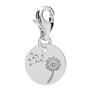 FASHIONS-FOREVER-925-Sterling-Silver-Dandelion-Disc-Charm-options-Bracelet
