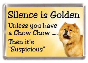 Chow-Chow-Dog-Fridge-Magnet-034-Silence-is-Golden-034-by-Starprint