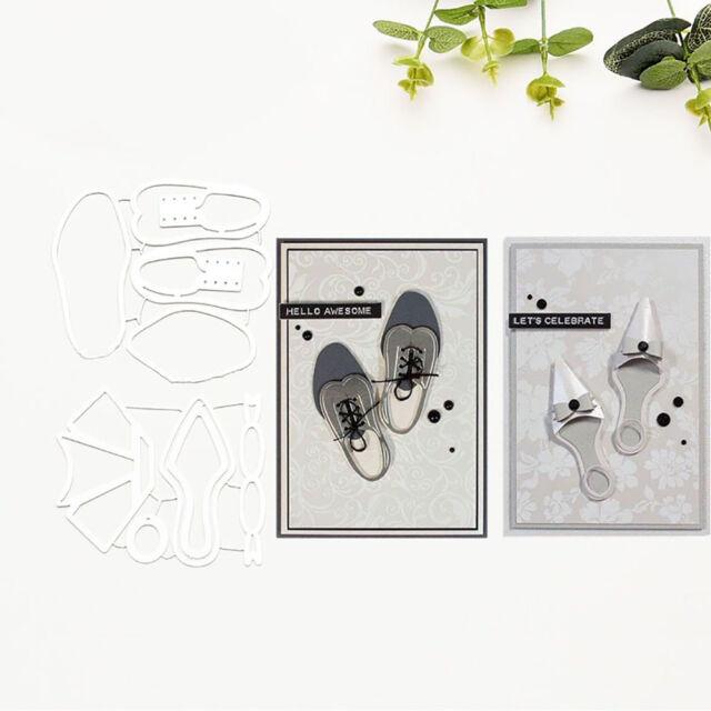NE_ GI- KF_ Shoes Cutting Dies Stencils Scrapbook Embossing Craft Album Card Die