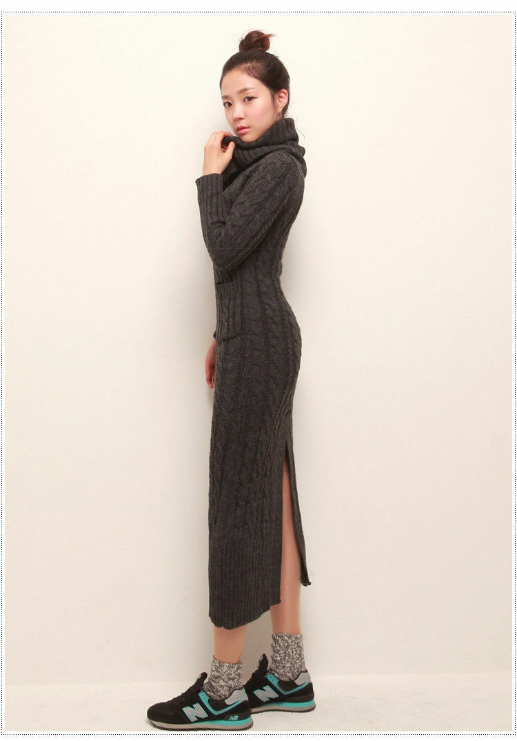 Fashion High Collar Slim Sweater Sweater Sweater Dress Delivery In About 18 Days 029c31
