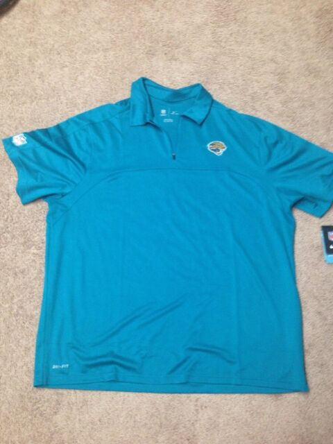 NWT Nike Mens Jacksonville Jaguars SS Dri-Fit Collared Shirt 2X (478454 483) 19c90af00