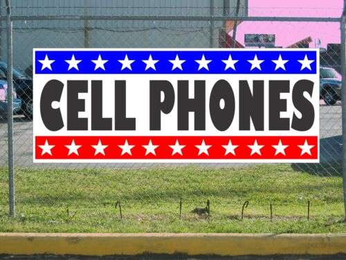 Stars /& Stripes CELL PHONES Banner Sign NEW 2X5
