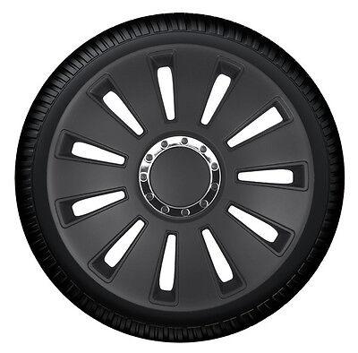 kh Teile Radkappen 17 Zoll Silverstone Pro Black schwarz 17 1-Fach lackiert mit Chromring Radzierblenden 4er Set komplett