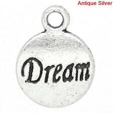 10 PCs Charm Pendants Round Antique Silver Birds Pattern Carved 23mmx19mm LC4690
