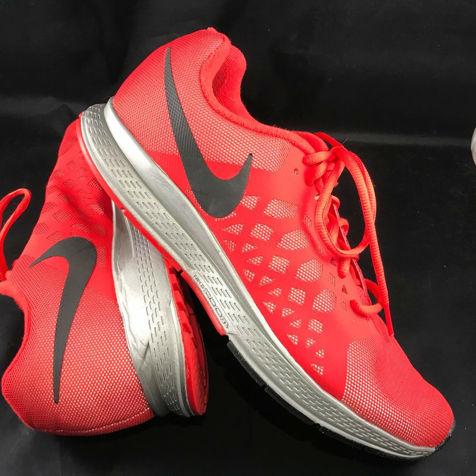 EUC NIKE ZOOM PEGASUS 31 FLASH H20 REPEL US 10 Black Blue Running Shoes Red