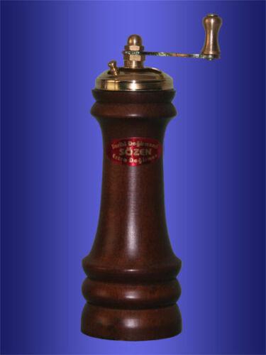 Handmade SOZEN Turkish Black Pepper Grinder Mill  Wood 15cm 6in Special Gift