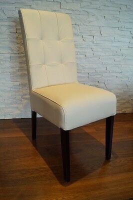 Creme Echtleder Stuhl Echt Leder Stühle Esszimmer Lederstühle