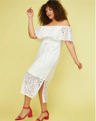 LANE BRYANT ~ NEW 14 16 18 20 22 24 26 28 ~ Pink COLD SHOULDER Rayon Day Dress