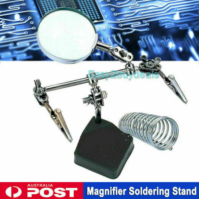 Third Hand Solder Soldering Iron Stand Holder Station Magnifier Helping Tool NEW