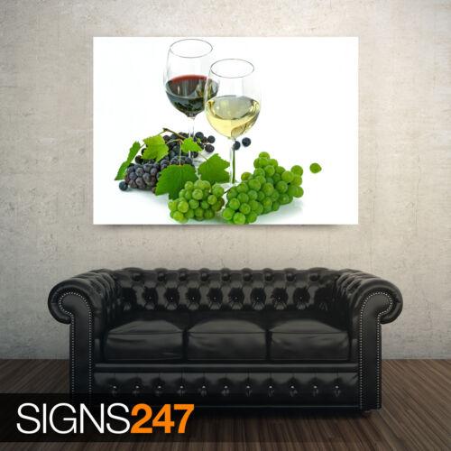 Un verre de vin rouge et un Photo Poster print ART A0 à A4 AE241