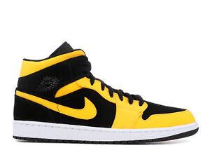 13384ffe968bca Nike Air Jordan 1 Retro Mid NEW LOVE REVERSE BLACK YELLOW OLD 554724 ...