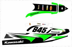 Kawasaki 750 Sxr Sxi Sx Jet Ski Wrap Graphic Pwc Stand Up Jetski Decal Kit Green Ebay
