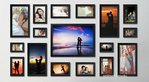17Pcs-Quality-Wood-wooden-effect-Multi-Picture-Photo-Frames-Wall-Hang-Frames-Set