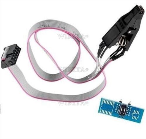 BIOS//24//25//93 Programmeur petite esquisse circuit intégré 8 Test Clips Socket adpter SOP8 Flash Chip nouveau I NC