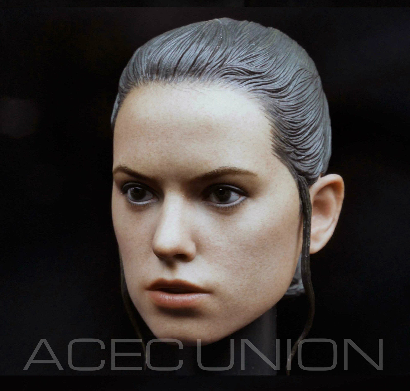 1//6 Daisy Ridley Rey Head Sculpt IN STOCK For Hot Toys Star Wars  U.S.A SELLER