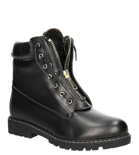 Femmes Bottines Bottes Plates Lacets Hiver Chaussures Plates Taille 36-41 Neuf