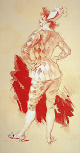 Jules Cheret: Cahin - Litografía Original, Firmada, 1895