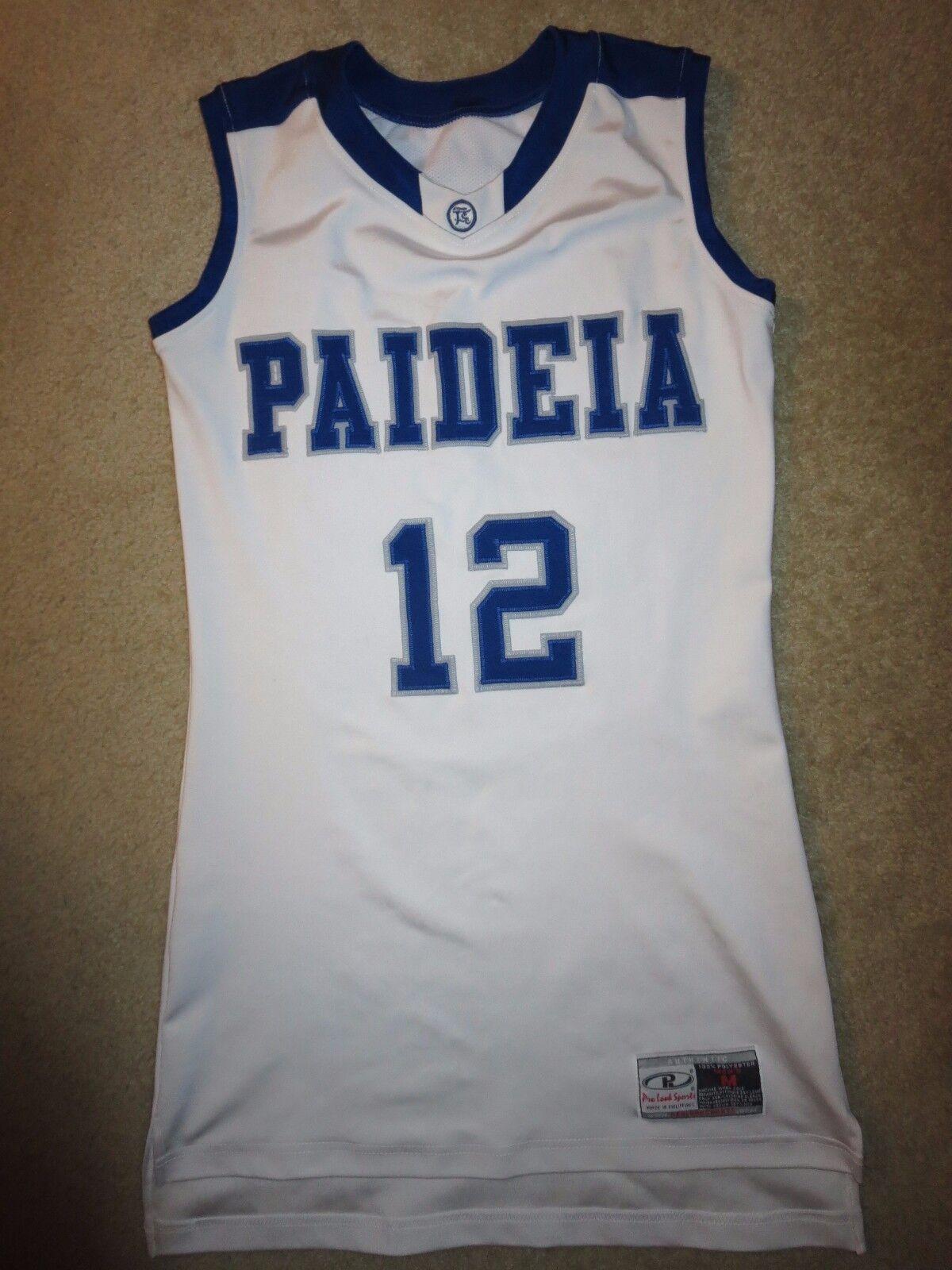 Paideia Escuela Pitones  12 Juego de Baloncesto Usado Jersey M