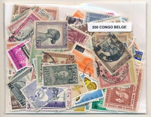 Details about Congo Belgian US 200 Stamps Different