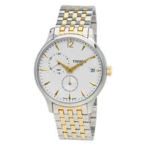 Tissot Tradition Silver Dial Two-tone Men's Watch T0636392203700