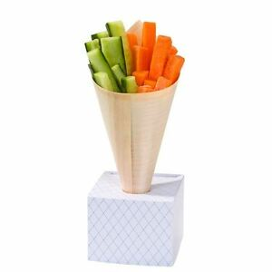BAMBOO-FOOD-SERVING-CONES-18cm-LONG-50-PACK-BRAND-NEW-SO-UNUSUAL-SUPER-CHIC