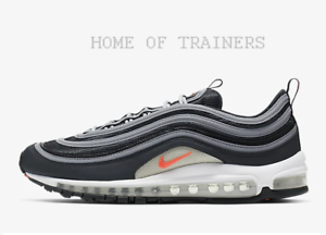 Details about Nike Air Max 97 Essential Anthracite Grey White Flash Crimson Men's Trainers