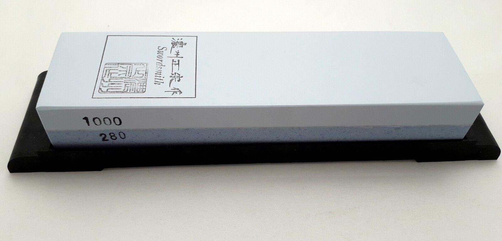 Schleifstein Sword Smith Kombi doppelseitig Japan Nassstein Körnung 280-1000   Schöne Farbe