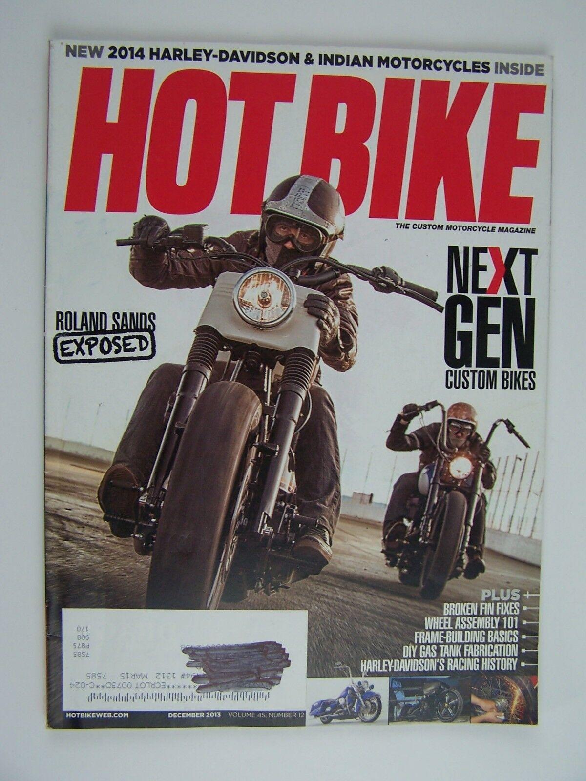 Hot Bike Magazine December 2013 Vol 45 No 12 Issue