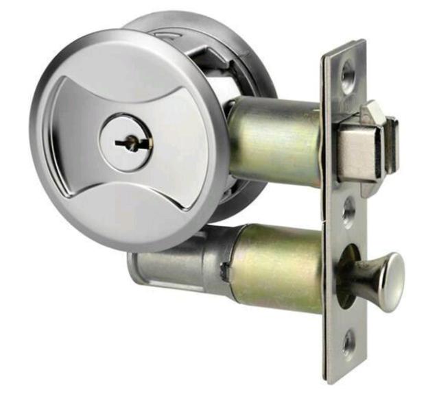 Lockwood 7444SPDP Cavity Sliding Door Lock Entrance SP Round lockable