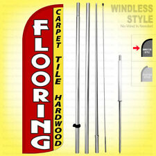 Flooring Carpet Tile Hardwood Windless Swooper Flag Kit 15 Feather Sign Rq H
